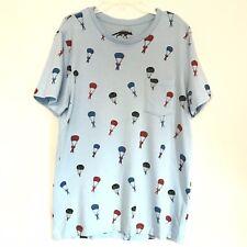 Character Hero tee shirt parachute men Size large
