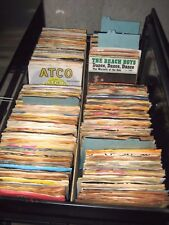 "VINTAGE LOT OF 2400 7"" 45 RPM RECORDS 50s THRU 80s MANY RARE TITLES MOST EX-NM"