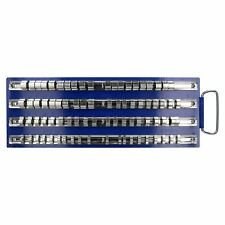 """Socket Holder Storage Tray Rack To Hold 80 Sockets For 1/4"""" 3/8"""" 1/2"""" Drive"""