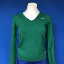 Vintage Kelly Green Izod Lacoste V-Neck Cardigan Sweater - Adult Tag Size: 36