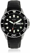 Rotary Men's Black Strap Divers Submariner Watch Gents GS03425/04