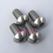 4pcs M6 x 12 mm Titanium Ti Screw Bolt Allen Hex Socket Button Head / Bicycle