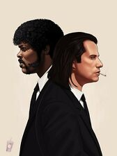 Pulp Fiction Vincent and Jules S/N by Mike Mitchell - Sold Out Print Tarantino