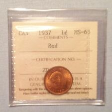 - 1937 Canada George VI One Cent - Choice Red Uncirculated Unc -  ICCS Graded