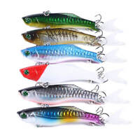 6pcs 22.5g Minow Fishing Lure Hard Bait Floating Crankbait 6# Treble Barbed Hook