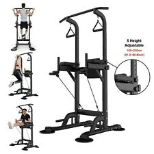 Dip Station Chin Up Bar Power Tower Pull Push Home Gym Fitness Core Equipment