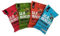 SEA MUNCHIES - Yummy Seaweed Snack - Korean Roasted Seaweed Crisps - 10 pack