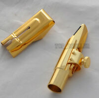 Newest Metal Mouthpiece for Alto Saxophone Eb sax Gold Plated 7#