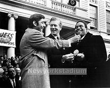 New York Jets- Joe Namath, Johnny Sample, Mayor John V. Lindsay- City Hall