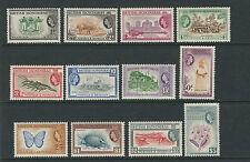 BRITISH HONDURAS 1953-7 QEII definitives ORCHID BRIDGE etc (Sc 144-55) VF MLH