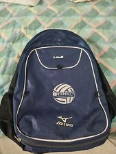 Mizuno Aerostrap Backpack Volleyball Blue And White shoe and ball compartment