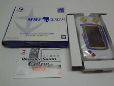 WonderSwan Color System Gundam Version RX-78-2 Gundam Bandai Japan
