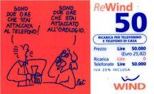 1628 SCHEDA RICARICA USATA WIND 50 SONO ORE 31-12-2002 OCR 20 CAB 38