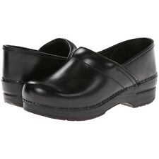 Dansko PROFESSIONAL BLACK CABRIO Womens Leather Slip On Closed Back Clog Shoes