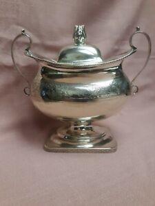 American Coin Silver Sugar Bowl Harvey Lewis