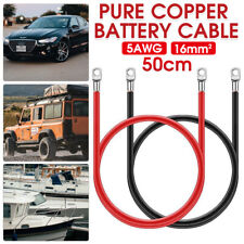 For FLAMEZUM Power Inverter Pure Sine Wave 5AWG Power Cable Wire Black & Red