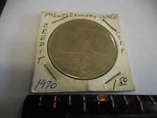 1970 Montgomery Ward Credit Corporation  10th Anniversary Bank Medal