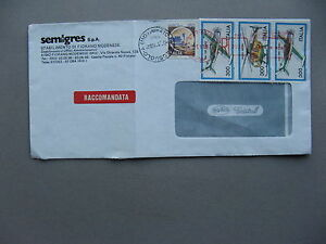 ITALY, R-cover1982, strip of 3 aeroplanes helicopter