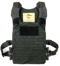 First Spear Black Pursuit MOLLE Low Profile Plate Carrier Vest w/ Tubes Pads