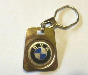 Vecchio Portachiavi metallico vintage anni '80 AUTO BMW (old keyring)