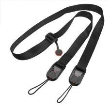 Tracolla doppia fotocamera imbracatura doppia fotocamera cinghia da polso e di sicurezza cinghia regolabile a rilascio rapido per DSLR SLR FCOUS