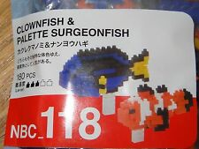 Clownfish & Palette Surgeonfish Nanoblock Micro Sized Building Block NBC118