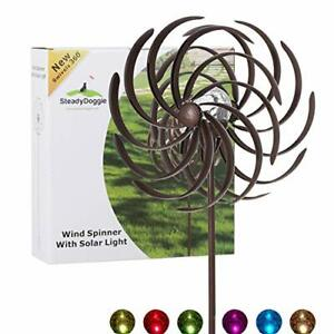 Solar Wind Spinner Willow Leaves 61inches Tall (1.55m) -