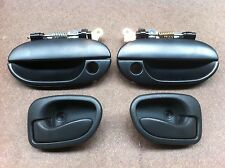 HYUNDAI X3 EXCEL COMPLETE FRONT INNER OUTER DOOR HANDLES 97-00 FRONT LEFT RIGHT