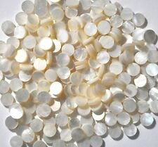 DOT4# 50 Inlay Dots in White Mother of Pearl 3mm X 1.5mm thickness
