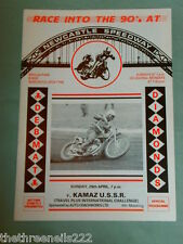 SPEEDWAY - INTERNATIONAL - NEWCASTLE V KAMAZ USSR - APRIL 29 1990