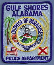 GULF SHORES ALABAMA POLICE PATCH