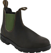 Men's Blundstone Pull On Boot BL 519 Brown Leather / Olive Green Gore