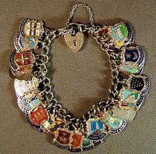 Lovely vintage Sterling Silver Charm Bracelet - 29 Enamelled Charms