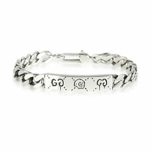 Gucci Ghost Chain ID Bracelet in Sterling Silver