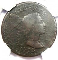 1796 Liberty Cap Large Cent 1C Coin S-81 - Certified NGC VF Detail - Rare Coin!