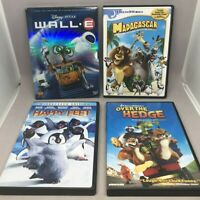 Kids Child DVD Movies LOT 4 Animated Wall-E Madagascar Over Hedge Happy Feet