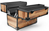 Wahl Barber Lockable Wooden Tool Box Storage Travel Carry Case