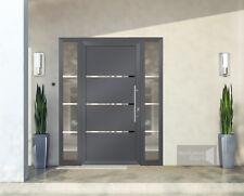 Front doors Schuco Opened with a fingerprint reader - door + 2 side panels