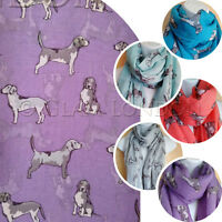 Dog Print Scarf BEAGLE Breed Scarves Animal Fashion Pet Womens Ladies Light Wrap