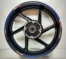 GB Flag Union Jack Tapered Reflective Blue Motorcycle Wheel Rim 025GB