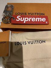 Authentic Supreme Louis Vuitton Box Logo Red Key Ring