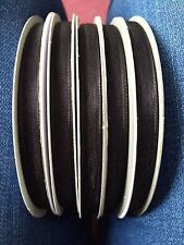 Black Organza Ribbon. 5 rolls x 50m - 7mm. Brand New Excellent Condition!