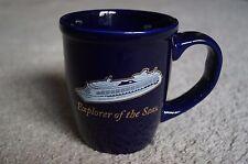 "Royal Caribbean ""Explorer of the Seas"" Cobalt Blue Coffee/Tea Mug ~ 14oz.~ NEW"