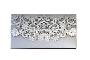Silver Gift Money Cash Vouchers Tokens Wallet Card Envelope Wedding Birthday