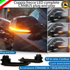 COPPIA FRECCE SPECCHIETTI LED DINAMICHE PROGRESSIVE SEQUENZIALI AUDI A3 8P 8PA