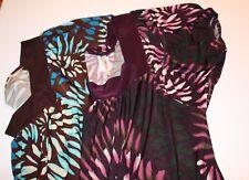 Orange Womens 1XL Shirt Set of 2 Pullover Short Sleeve Square Neckline
