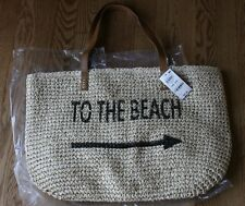 Style & Co. Straw Beach Shoulder Bag Purse Tote CUTE