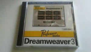 Professor Teaches Dreamweaver 3 New Sealed