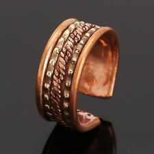 Tibetan Medicine Ring Copper Magnetic Adjustable Ring With Pure Copper Free Size