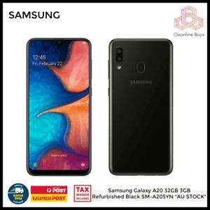 Samsung Galaxy A20 32GB SM-A205YN Unlocked Refurbished Black *AU STOCK* Express